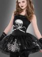 Totenkopf Kleid Teen Untote Ballerina