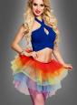 Tulle Skirt Women Rainbow