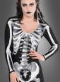 Skelettanzug Damen 2-teilig