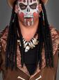 Voodoo Kette mit Zähnen und Totenkopf