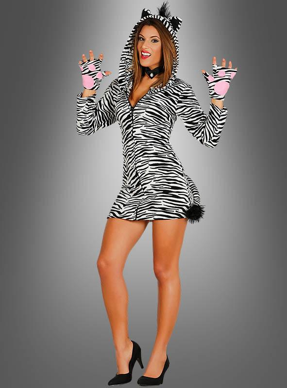 Wild Zebra Ladies Costume with Hood