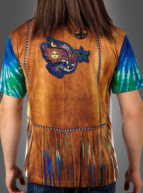 Hippie Shirt fotorealistisch Herren