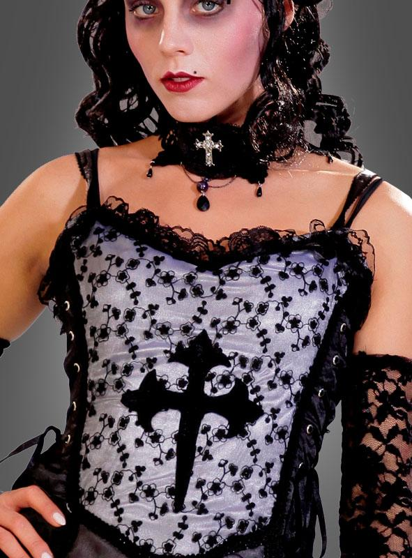 Black Gothic dress with cross