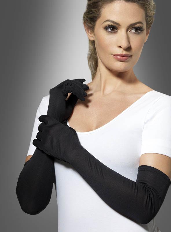 Long Gloves black, white or red