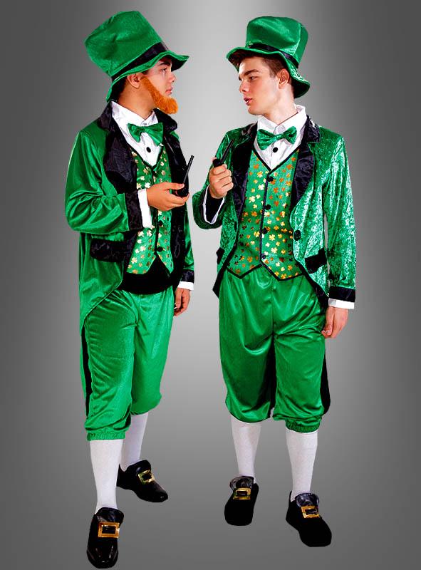 Irischer Kobold Kostüm Leprechaun grün