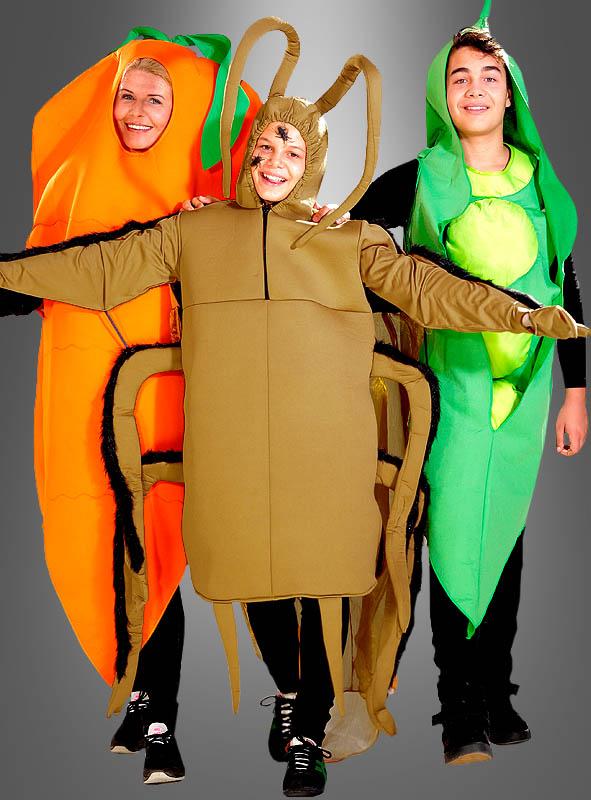 Erbse Gemüse Kostüm für Erwachsene