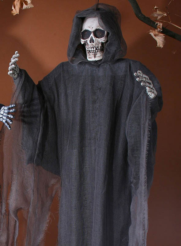 Light up Skull Reaper decoration