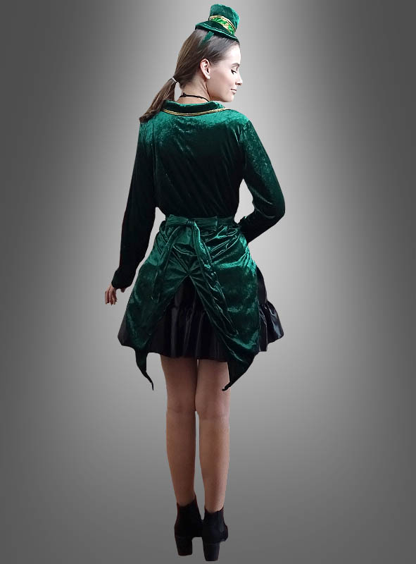 Sexy Kobold Kostüm Damen grün