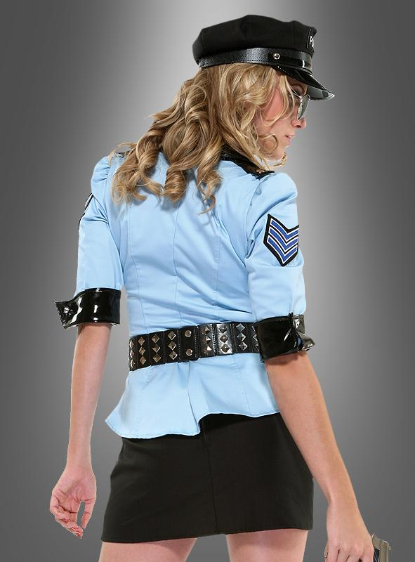 sexy polizistin officer blue kost m bei. Black Bedroom Furniture Sets. Home Design Ideas