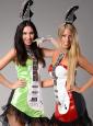 Neon Guitar Girl Costume green