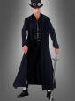 Langer schwarzer Gothic Mantel