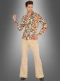 70er Jahre Hemd mit Retrokreisen