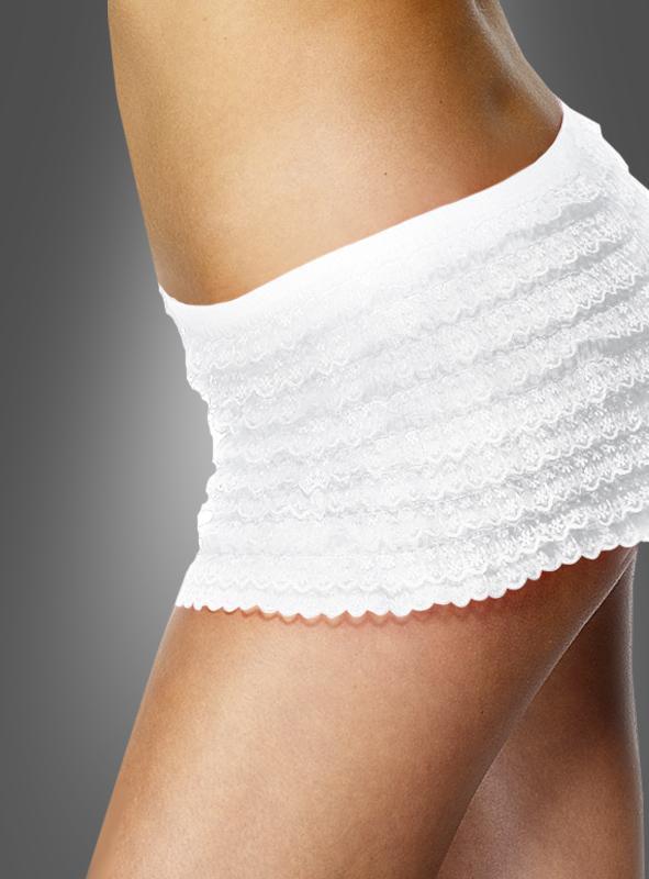 Panties black ruffle lace