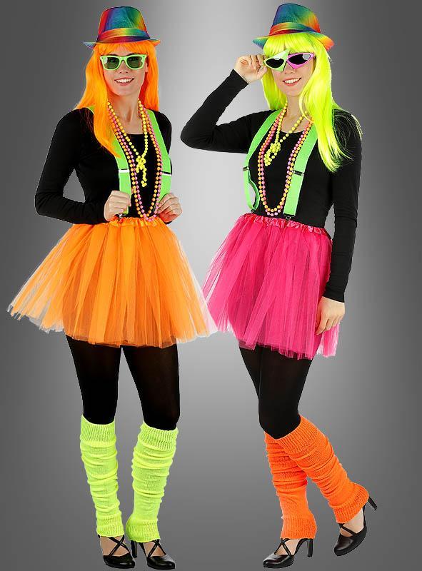 Tüllrock verschiedene Neonfarben