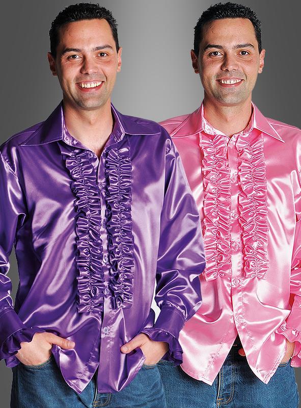 Satin Ruche Shirt 70s for Men