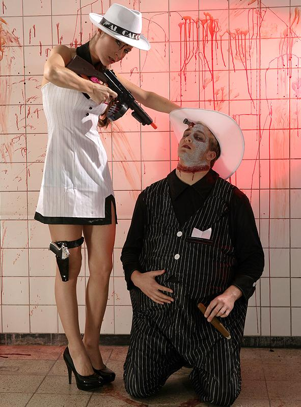 Sexy Mafiabraut Kostüm 2. Wahl