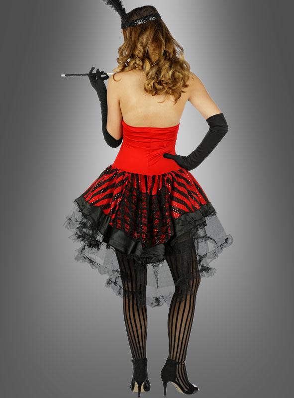 Sexy Burlesque Mafiabraut Kostüm