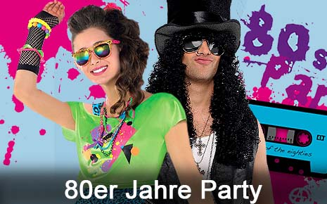 80er Jahre Party Mottoparty Kostüme Themengeburtstag Achziger