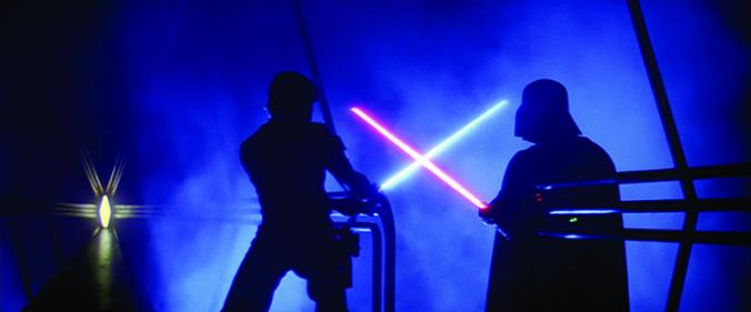 Luke Skywalker und Darth Vader