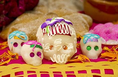 Calaveras de dulce Totenköpfe aus Zucker