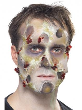 Zombie Schminken Hautfetzen schminken