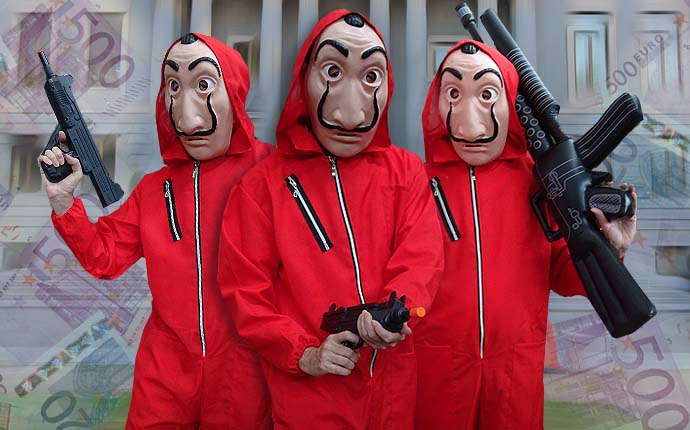 Bankräuber TV Serie Kostüme Herrenkostüme Filmkostüme