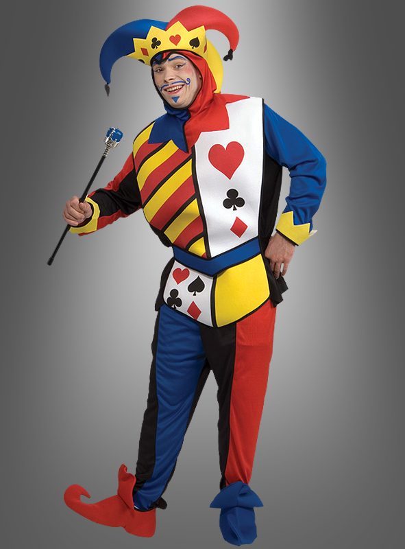 hofnarr kartenspiel joker kost m karneval fasching mottoparty spielkarte neu top. Black Bedroom Furniture Sets. Home Design Ideas