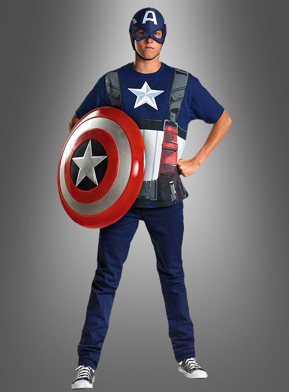 captain america kost m shirt und kopfteil bei kostuempalast. Black Bedroom Furniture Sets. Home Design Ideas
