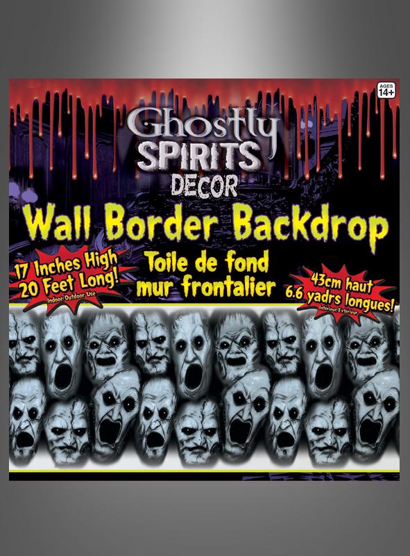 Wanddeko schreiende geister seelen f r halloweenparty for Wandfolie schwarz