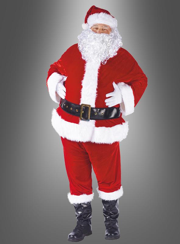 weihnachtsmann kost m nikolaus 7 teile set g nstig. Black Bedroom Furniture Sets. Home Design Ideas