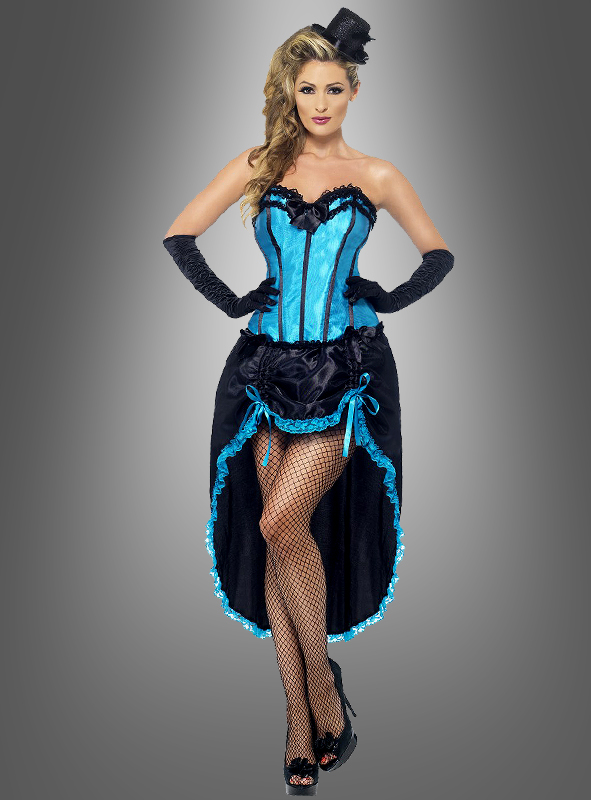 foto del burlesque dame kost m fever blau f r damen. Black Bedroom Furniture Sets. Home Design Ideas