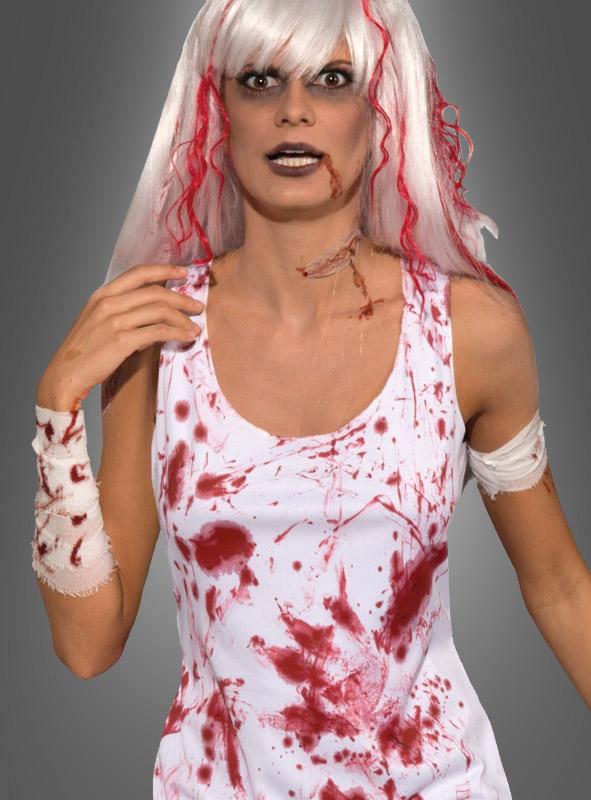 halloween verkleidung blutiges kleid zombiefrau. Black Bedroom Furniture Sets. Home Design Ideas