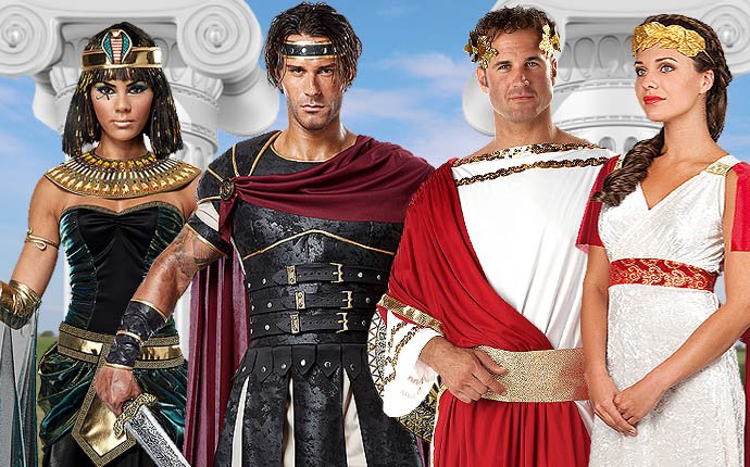 Cleopatra Caesar Romans Gladiator Ancient Greeks Costumes