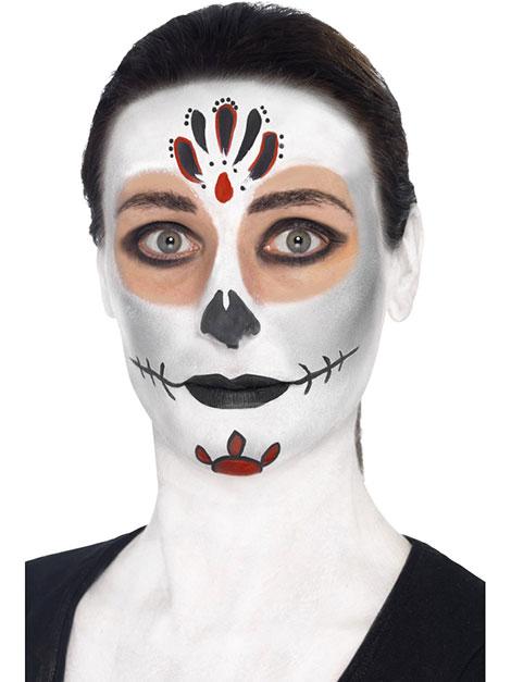Day of the dead kost m selber machen - Mexikanische totenmaske schminken ...