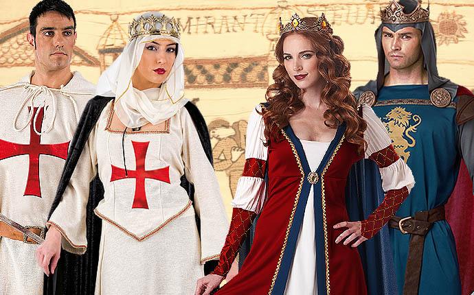 Mittelalterkostüme Königin Prinzessin Ritterksotüm Tafelrunde