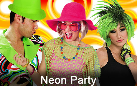 Neon Party 80er 90er Rave Techno Schlagermove Kostüme