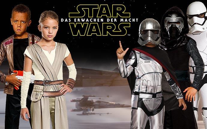 Star Wars Filmkostüme Lizenzkostüme Krieg der Sterne Disney Lukasfilm Clone Wars Rebels Episode 7 Jediritter Stormtrooper Klonkrieger